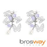 【brosway】Charmant 不鏽鋼蝴蝶耳環
