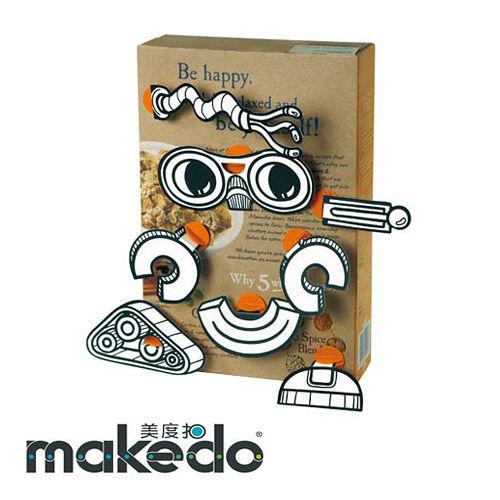 澳洲 makedo 美度扣 - 裝飾創意【機器人臉型】20 pcs
