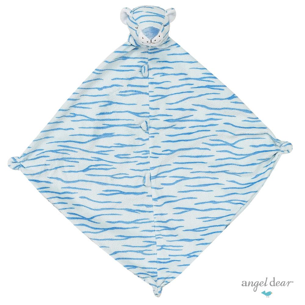 美國 Angel Dear 動物嬰兒安撫巾單入禮盒 (藍色小虎)