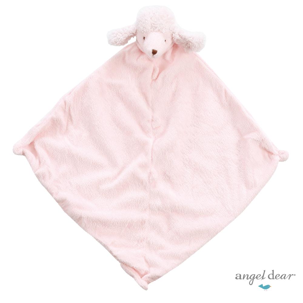 美國 Angel Dear 動物嬰兒安撫巾單入禮盒 (粉紅貴賓狗)