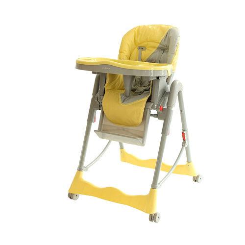 L.A. Baby 美國加州貝比 多功能時尚高腳餐椅/兒童椅(高低升降可調/座椅三段平躺)