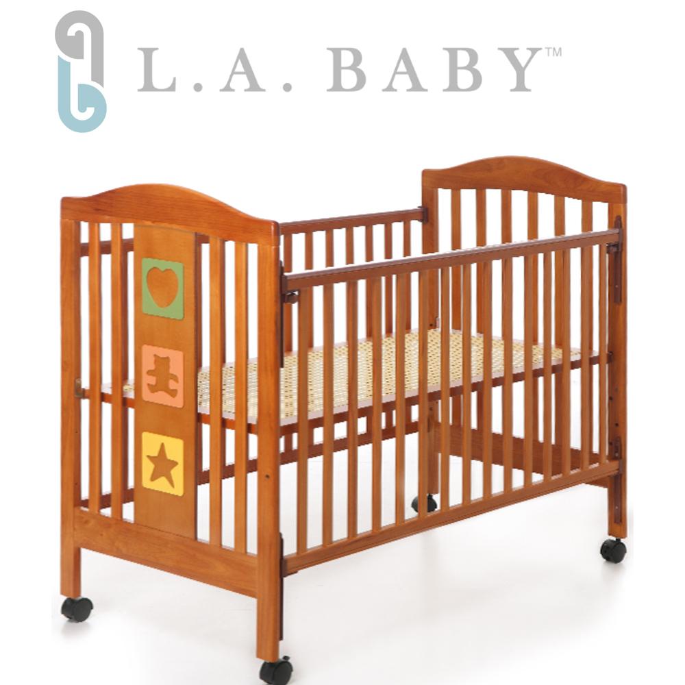 L.A. Baby 美國加州貝比 維吉尼亞嬰兒中床/木床/原木床/嬰兒床(咖啡色)