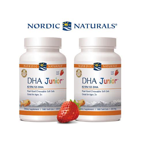 【Nordic Naturals】北歐天然 - 小愛Q 魚肝油膠囊食品-天然草莓風味(180顆× 2 瓶超值套裝組)