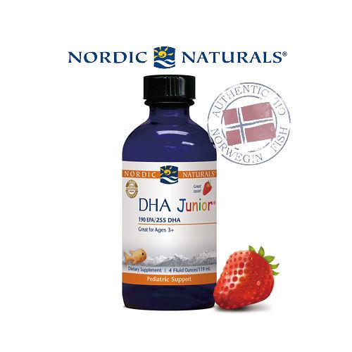 【北歐天然】北歐天然幼兒DHA液體魚肝油-天然草莓風味(119毫升/單瓶裝)