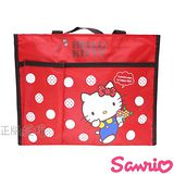 【Hello Kitty凱蒂貓】俏麗橫式側背補習袋/才藝袋(紅色)
