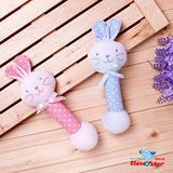 【聖哥-明日之星Newstar】MIT新生兒嬰兒可愛兔兔手搖鈴-藍-粉紅-練習手部抓取-鈴鐺聲音促進聽覺發展-優雅可愛
