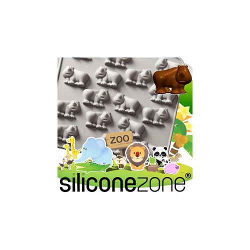 【Siliconezone】施理康ZOO耐熱犀牛巧克力模/冰模-灰色