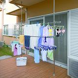 【LIFECODE】頂天立地魔法空間超大型曬衣架-附送2個襪子架
