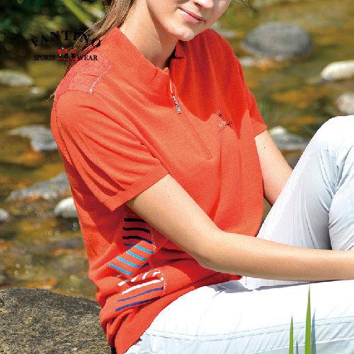 【FANTINO】女款 涼爽舒適高成份針織衫377205(桔).377206(藍)