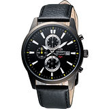 ORIENT 都會計時運動風SP腕錶-黑 FTT12002B