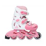成功 發光輪兒童伸縮溜冰鞋組S0480直排輪/健身運動(附贈安全頭盔,三合一護具組)