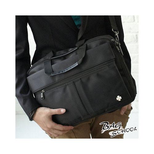 DF BAG SCHOOL - 都市型男質感實用多功能斜背/手提公事包