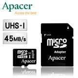 Apacer宇瞻 16GB MicroSDHC UHS-I Class10 記憶卡(附轉卡)