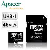Apacer宇瞻 64GB MicroSDHC UHS-I Class10 記憶卡(附轉卡)