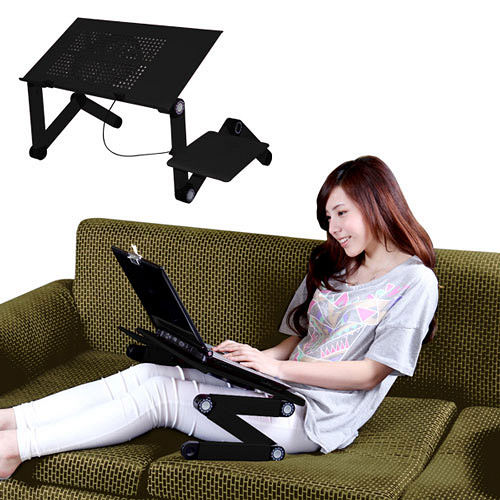 LISAN 百變可折電腦桌(散熱版)-二色