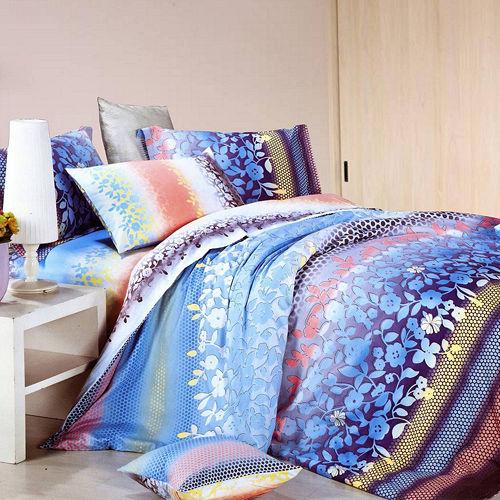 【情定巴黎-微四季】加大精梳棉四件式兩用被床包組