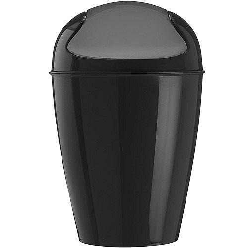 《KOZIOL》搖擺蓋垃圾桶(黑XS)