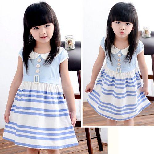 夏日《藍白學院風》甜美氣質小洋裝【現貨+預購】