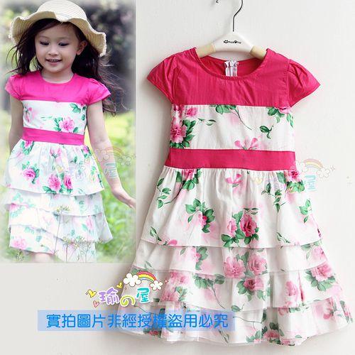 夏日《玫瑰層層款》甜美氣質小洋裝【現貨+預購】