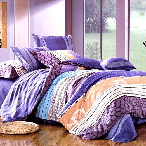 【情定巴黎-城市風格】加大精梳棉四件式兩用被床包組