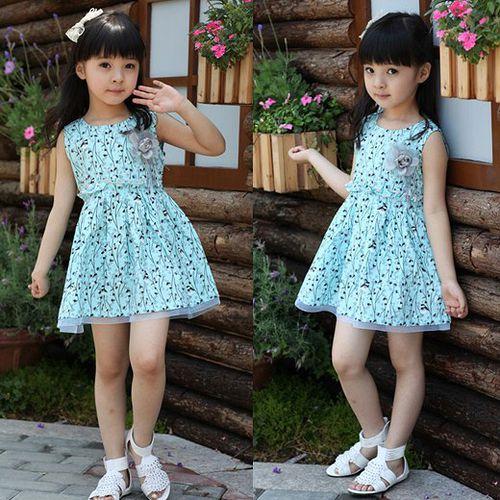 夏日《胸花百鳥裙-藍色》甜美氣質小洋裝【現貨+預購】
