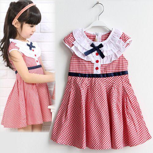 夏日《紅格學院風》甜美氣質小洋裝【現貨+預購】