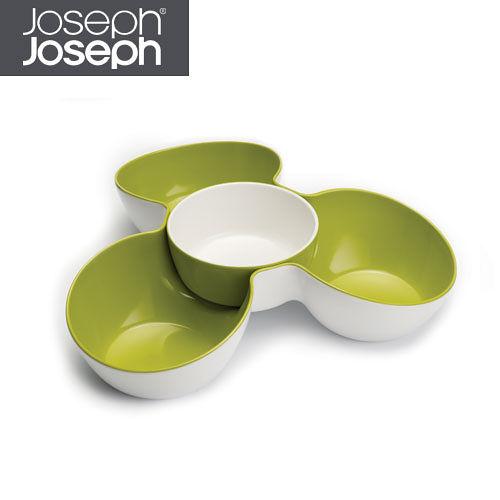 Joseph Joseph英國創意餐廚★花朵醬碟點心盤(綠白)★70071