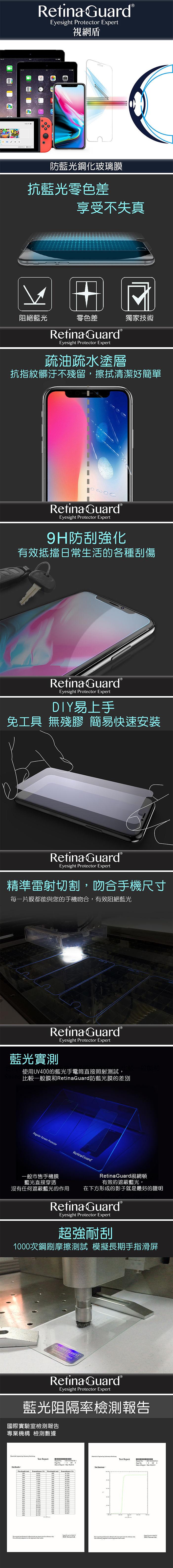 RETINAGUARD 視網盾 IPHONE SE 2020 防藍光鋼化玻璃保護貼 IPHONE 8/7共用 9H