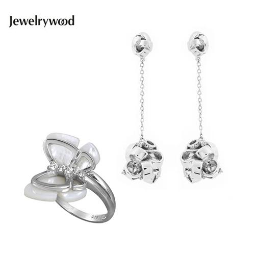 Jewelrywood 法式緞帶花結&蝴蝶飛舞珍珠母貝系列